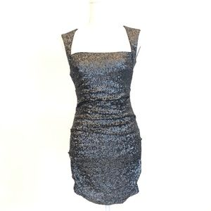 NICOLE MILLER Sequined Cocktail Dress